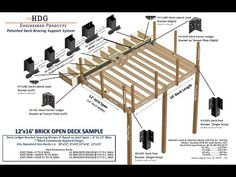 HDG, Inc. Engineered Products: Patented Structural Deck Support System. Built to Last. American Made. Use for Strengthening and Reinforcing Wood Deck and Porch Framing Components. Plywood Subfloor, Decks And Porches, Cabin Plans, American Made, Engineering, Building, Products, Buildings, Technology
