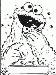 cookie monster bite coloring pages