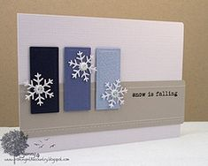 snowflakes and ombre