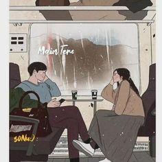 Cute Couple Drawings, Cute Couple Art, Cute Couples Kissing, Cute Anime Couples, Couple Illustration, Illustration Art, Fond Design, Anime Love Story, Arte Indie