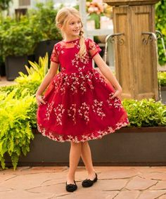 Just Couture Wine Cecil A-Line Dress - Toddler & Girls Toddler Girl Dresses, Girls Dresses, Toddler Girls, Holiday Looks, Little Ones, Special Events, Line, That Look, Couture