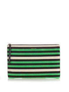 Striped woven pouch by Lanvin | Shop now at #MATCHESFASHION.COM