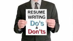 22 Do's and Don'ts of Drafting a Professional Resume