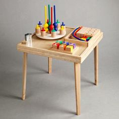 Fantastic wooden building table.  Oh, I wish I could get one or two in my classroom!!  Actually, the whole website has fantastic wooden blocks!