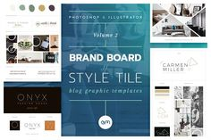 Brand Boards / Style Tiles VOL 2 / 10 easy to edit, fully customisable Brand Board / Style Tile templates