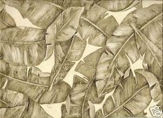 Jungle leaves Asian Chinese vintage Art deco wallpaper
