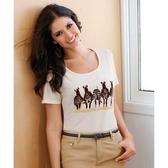 Bedrukt T-shirt met korte mouwen VENCA