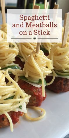 Tired of serving the same old boring meatball appetizers at every party? Mix things up and give these fun spaghetti and meatball skewers a whirl!
