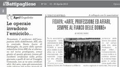"""Un mio articolo/intervista riguardante la FIDAPA di Battipaglia suln.24/2013de """"il Battipagliese""""... ... (Il presente articolo, a firma del sottoscritto, e pubblicato su """"Il Battipagliese"""", testa..."""