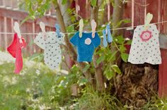 Pocket Full of Whimsy's homemade kids clothes line! This would make a super cute gift for a little girl