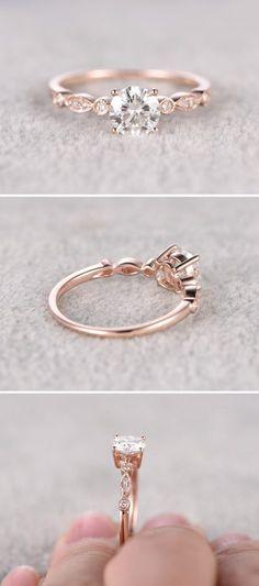 e4d3c74e1da 23 anéis de noivado com ouro rosê para derreter seu coração