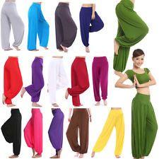 Women harem genie yoga Long pants aladdin hippie baggy jumpsuit belly dance boho