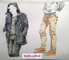Daum 블로그 - 이미지 원본보기 Types Of Folds, Kim Jung, Drawing Clothes, Colorful Drawings, Light And Shadow, Landscape Paintings, Dress Up, Bomber Jacket, Sketches