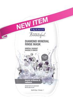 Freeman Diamond Mineral Rinse Mask. This exfoliates well but it's abrasive so be careful! It also dries quickly on the skin. I massage it in lightly so I don't irritate my skin, and when it starts to get dry I add a less abrasive scrub to my face, like St. Ives Timeless Skin Apricot Scrub. I like to use this when I haven't exfoliated my face in a while, but I wouldn't recommend using it more than twice a week.
