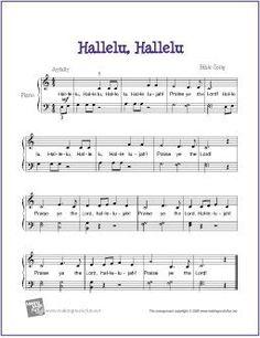Hallelu, Hallelu (Bible Song) | Free Sheet Music  for Easy Piano - www.makingmusicfu...