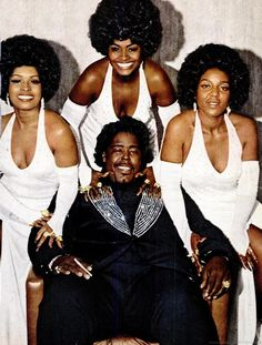 Barry White and his backing group, Love Unlimited