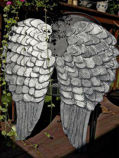 DIY angel wings with tarnished silver effect. http://angelsr4u.com/angel-wings-do-it-yourself/