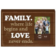 More Than Words 'Family' Wood Photo Plaque Picture Frame