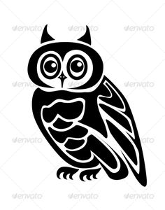 Owl — Vector EPS #owl #cartoon • Available here → https://graphicriver.net/item/owl/60770?ref=pxcr