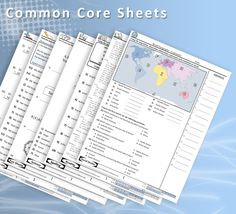Common Core Sheets A great resource for free math, science, language arts and Social Studies worksheets. Social Studies Worksheets, Free Math Worksheets, Printable Worksheets, Free Printable, Printables, Too Cool For School, Middle School, School Stuff, Common Core Math