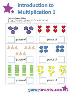 Multiplication worksheets for kindergarten introduction to multiplication g Math Multiplication Worksheets, 2nd Grade Math Worksheets, Multiplication Strategies, Math Math, Math Fractions, Teaching Subtraction, Teaching Math, Preschool Workbooks, Math Activities