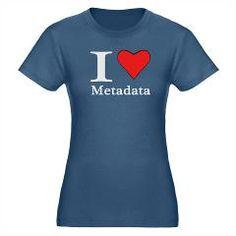 I heart Metadata Organic Women's Fitted T-Shirt (d