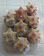 Wacky Cupcakes with Star Sugar Cookies