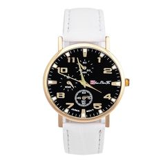 >> Click to Buy << New 2016 sell hot Unisex Charm Glass Dial Faux Leather Analog Quartz Wrist Watch wholesale #Affiliate