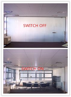 Switchable Film Is Used For Office Partition It Enlarge Space And Improve Company Image