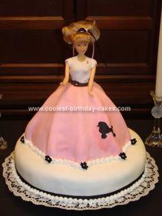 50's themed cake