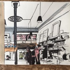 Wee @pccoffeeuk drawing by wilfreeborn
