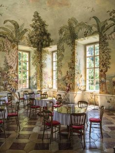 Trying to imitate tings like this easily gives the feel of a cheat knock off The garden pavilion with frescoes by Johann Wenzel Bergl, Melk Abbey, Austria Decoration, Art Decor, Room Decor, Garden Pavilion, Interior And Exterior, Interior Design, Of Wallpaper, Antique Wallpaper, Vintage Wallpapers