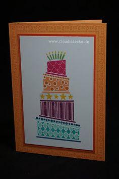 Stampin Up, Geburtstag, Crazy Cake, Birthday, Kuchen, Claudiasecke