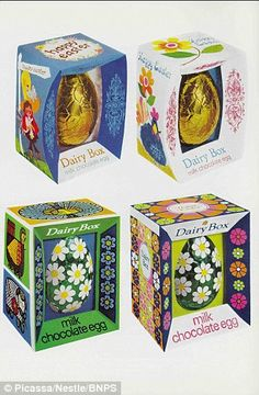 A selection of Easter Eggs from 1970. Are they prettier than the dull offerings around now?