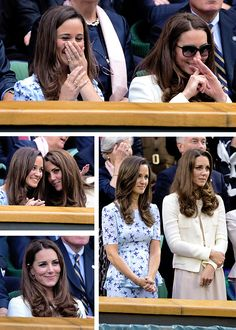 4 Years Ago Today: Catherine, Duchess of Cambridge, and Pippa Middleton sit in the Royal Box during the Gentlemen's Singles final match between Roger Federer and Andy Murray on day thirteen of the Wimbledon Lawn Tennis Championships at the All England Lawn Tennis and Croquet Club on July 8, 2012 .