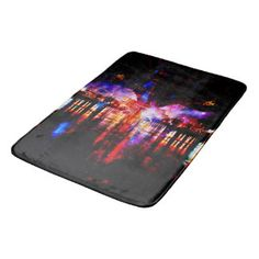Rainbow Universe Bridge Bathroom Mat