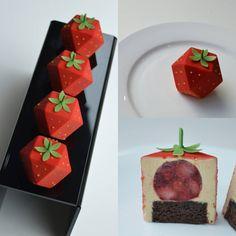 ☆🍓Strawberry & tea cake🍓 ❤Flavor of afternoon ❤ Gourmet Desserts, Fancy Desserts, Just Desserts, Delicious Desserts, Tea Cakes, Mini Cakes, Cupcake Cakes, Patisserie Fine, Strawberry Tea