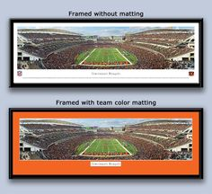 WHODEY FANS! Get your fan room ready! Bengals Paul Brown Stadium Framed End Zone Picture