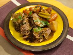 New England Pot Roast recipe from Geoffrey Zakarian via Food Network *for scd use butternut squash in place of potatoes