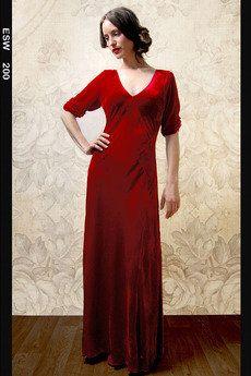 Sibi Red Velvet Maxi Dress