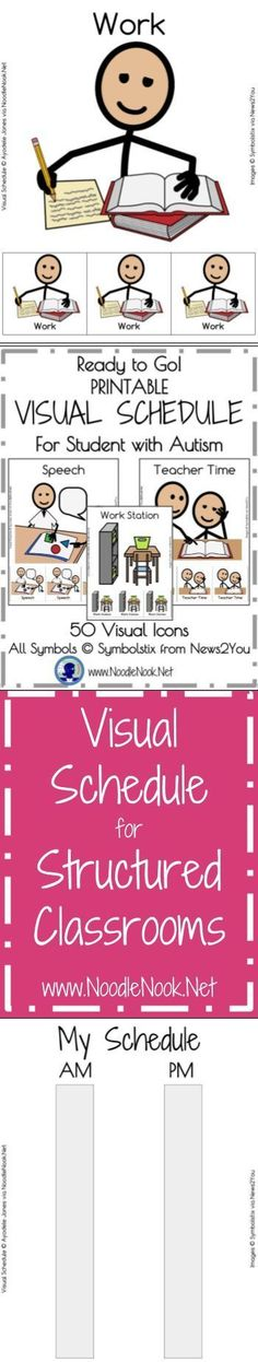 Visual Schedule for Students with Autism- Printable and Ready to Go! You need good visuals in your classroom- this is it!