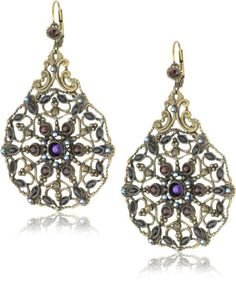 "Amazon.com: Sorrelli ""Simply Divine"" Crystal Bohemian Style Goldtone Earrings: Jewelry"