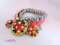 Pulseira feita em cerâmica plástica. Jewelry clay / fimo http://ladydih.blogspot.pt/ https://www.facebook.com/LadyDihh