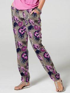 M&Co. Women Tropical floral print soft trousers