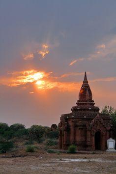 A beautiful sunset in Myanmar http://www.kensingtontours.com/tours/asia/myanmar