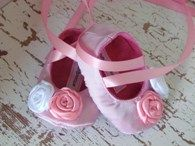 Pink Baby Shoes Soft Ballerina Slippers
