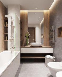 54 Premium Modern White Bathroom with White Cabinets Ideas - HomeCNB Spa Interior Design, Bathroom Decor Apartment, Bathroom Interior, Bathroom Spa, Bathrooms Remodel, Spa Interior, Bathroom Decor, Small Bathroom Remodel, Modern Bathroom Design
