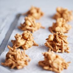 Tasty enough for any occasion, these butterscotch haystacks are mounded with a mixture of peanut butter, butterscotch morsels, marshmallows and chow mein noodles. To enjoy in a snap, make them the microwave way.