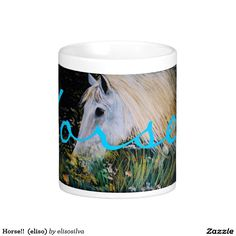 Horse!!  (eliso) taza básica blanca
