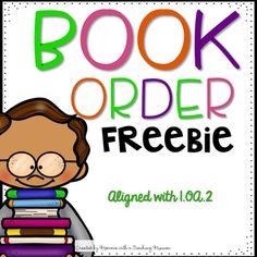 Scholastic Book Order 1.OA.2 FREEBIE